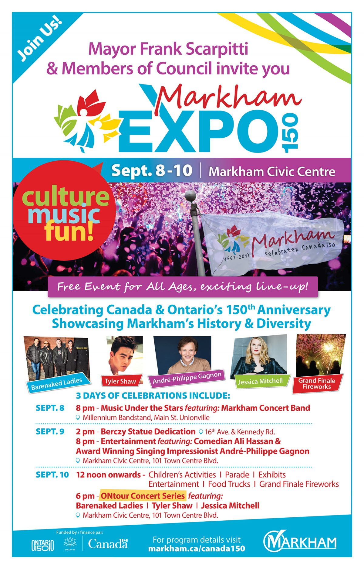 Mayor Frank Scarpitti and Members of Council Invite you to: Invitation to Markham Expo 150