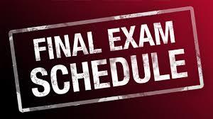 Semester 2 Final Exam Procedures and Schedule