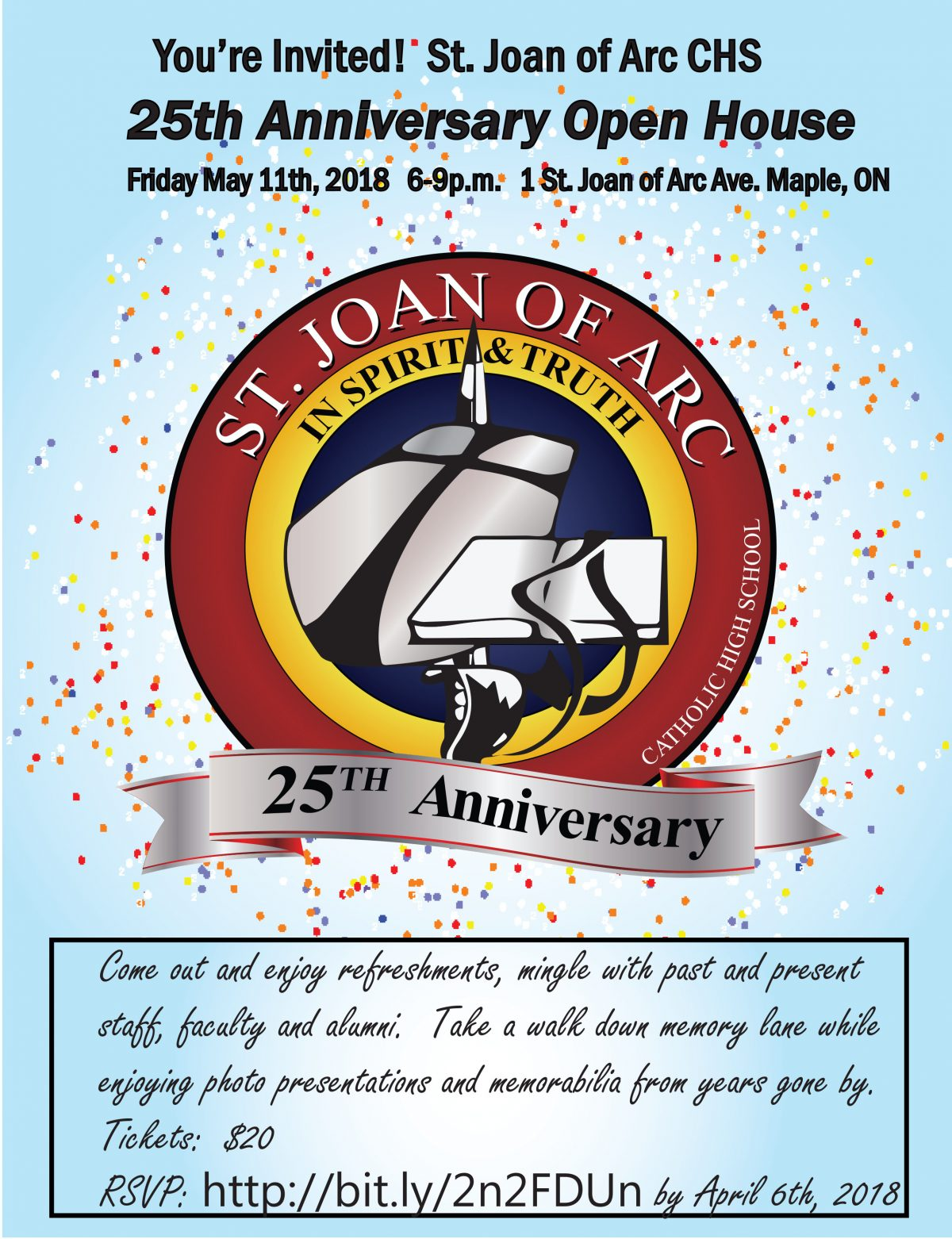 Saint Joan of Arc 25th Anniversary Celebration